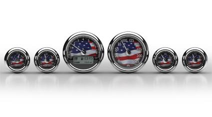 Medallion Gauges Medaillon Premium Bagger Gauge Kit USA, Km/h  - 67-0450