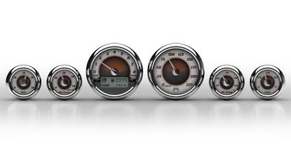 Medallion Gauges Medaillon Premium Bagger Gauge Kit Sundown, Km/h  - 67-0452