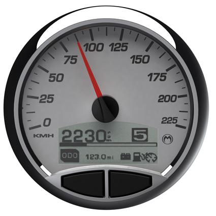 "Medallion Gauges Medallion 5"" Premium Console Gauge Kit Racing White, km/h  - 67-0457"