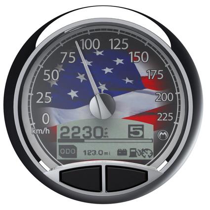 "Medallion Gauges Medallion 5"" Premium Console Gauge Kit USA, km/h  - 67-0461"