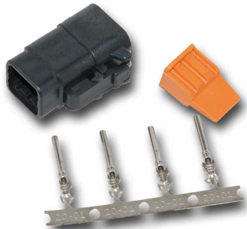 Namz Namz Deutsch DTM 4-Position Black Plug mit (4) Stamped Terminals & Wedgelock.  - 67-0821