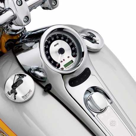 "Harley-Davidson Speedometer 5"" Spun Aluminum Face km/h  - 67315-05A"