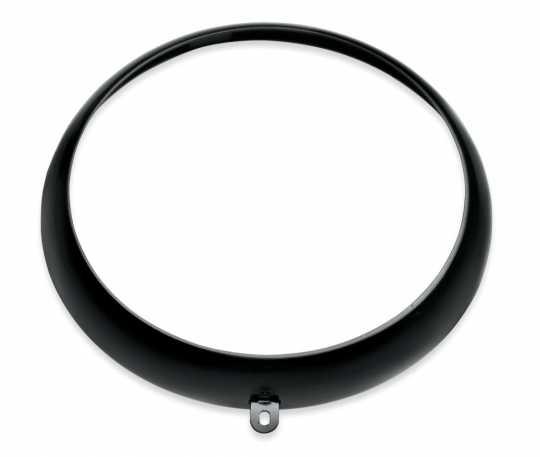 "Harley-Davidson Headlamp Trim Ring 7"" Gloss Black  - 67700115"