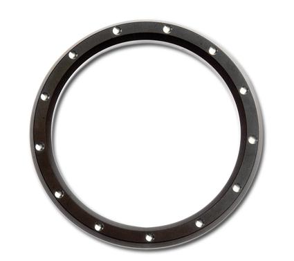 "Custom Chrome Instrumenten Zier-Ring 3 5/8"" dimpled schwarz  - 67-7692"