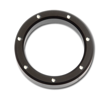 "Custom Chrome Instrumenten Zier-Ring 2"" Billet dimpled schwarz  - 67-7701"