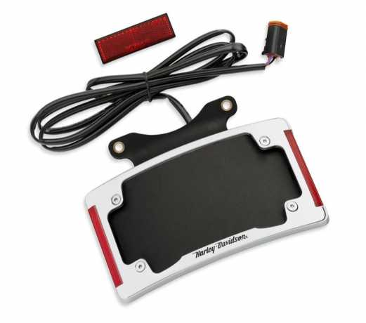 67900275 Curved License Plate Frame With Led Lighting