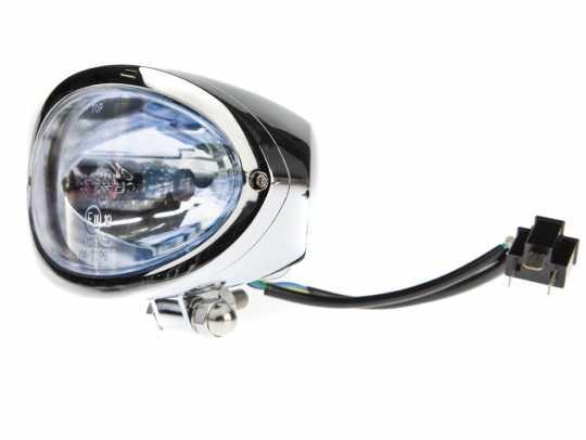 Highsider Highsider Ovaler H4 Hauptscheinwerfer, chrom & blaues Glas  - 68-1881