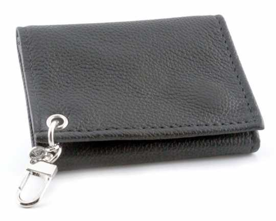 Amigaz Trifold Fine Leather Wallet, black