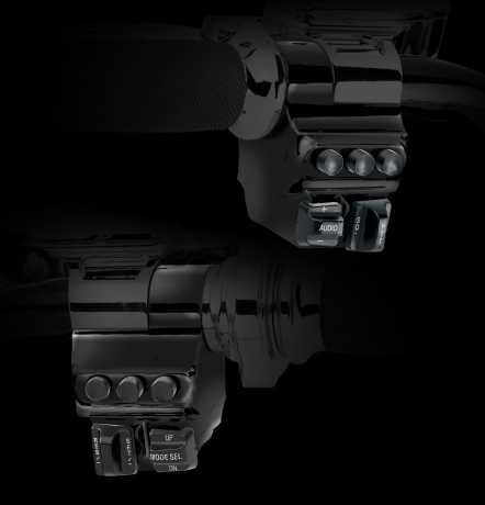 Performance Machine PM Switch Housing 5 Buttons, right, black  - 68-4318