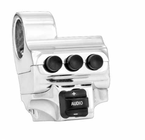 Performance Machine PM Contour FL Schaltergehäuse mit 4 Schaltern linke Seite, chrom  - 68-4323