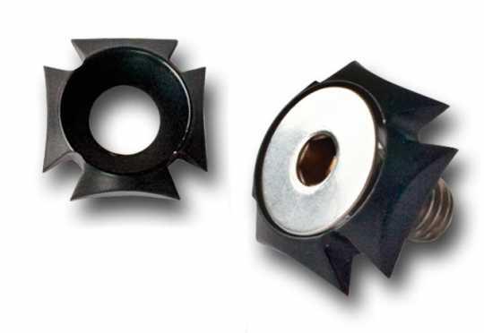 TXT Customparts TXT Iron Cross Montagesatz für Heckschutzbleche, 40 mm schwarz  - 68-5740