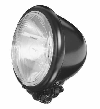 "Custom Chrome Bates Style Headlight 5.5"" black  - 68-8021"