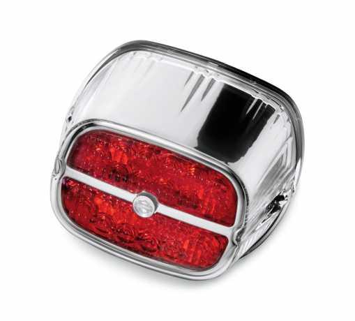 Harley-Davidson LED Tail Lamp - Red Lens/Chrome Bezel  - 68116-08