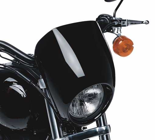 Harley-Davidson Headlamp Visor Kit Vivid Black  - 68129-98DH