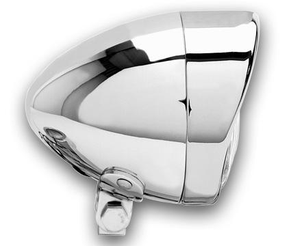"""Custom Chrome Cce Head Light 6 1/2"""" H4 55/60W chrome E11 Metal  - 68-1341"""