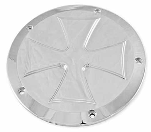 Hells Kitchen Choppers HKC Derby Cover Cross polished  - 68-1352