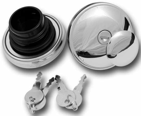 Custom Chrome Abschließbares Tankdeckel Set chrom  - 68-2785
