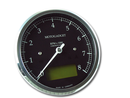 Motogadget Chronoclassic 8K Scale green LCD polished BEZEL