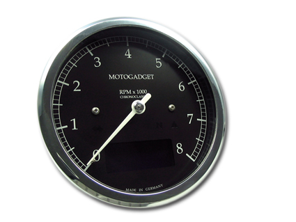 Motogadget Motogadget Chronoclassic 8K Scale Dark Edition polished BEZEL  - 68-3742