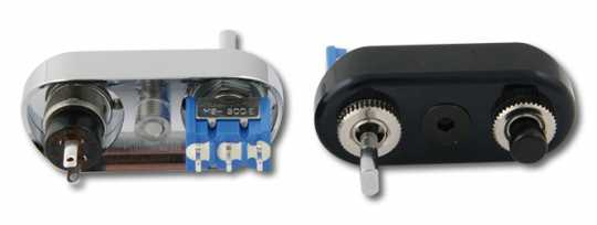 Easyriders Japan Easyriders Minilenkerschalter verchromt, für Relais  - 68-4508
