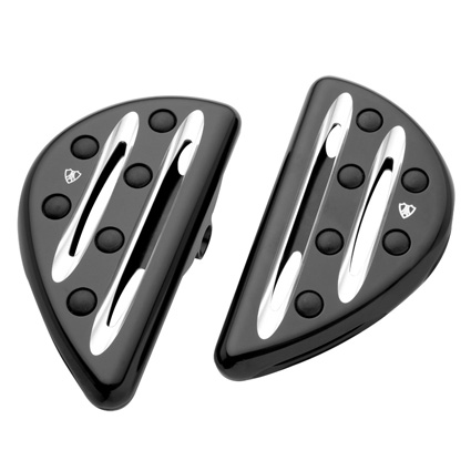 Arlen Ness Arlen Ness Deep Cut Passenger Floorboards, black  - 68-4524