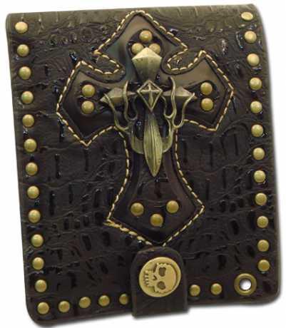 Amigaz Amigaz Skull Cross Bifold Geldbörse, braun  - 68-4829