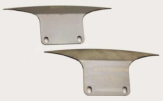 TXT Customparts TXT Side Plates Front Fender non-cutout  - 68-5411