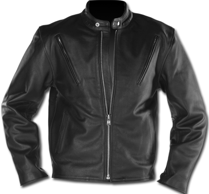 Custom Chrome Leatherjacket Scooter, black  - 68-5480V
