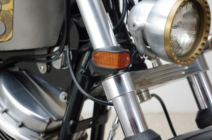Custom Chrome Darrell Hayes schwarze Zusatzblinkleuchten Side View  - 68-8019