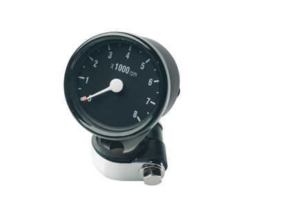 Custom Chrome Mini Tachometer Electric  - 27-821
