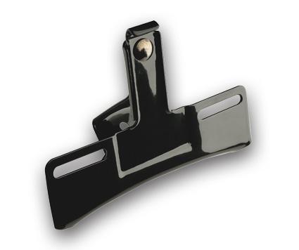 Bracket License Plate 3-Hole black  - 68-8060