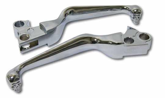 Custom Chrome Skull Lever Set chrome  - 68-8212