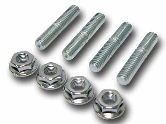 Custom Chrome Exhaust Stud & Nut Kit (4)  - 68-8595