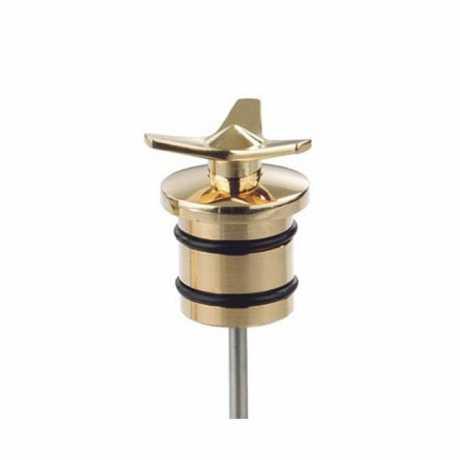 Kustom Tech Kustom Tech Spinner Oiltank Plug, messing poliert  - 69-6050