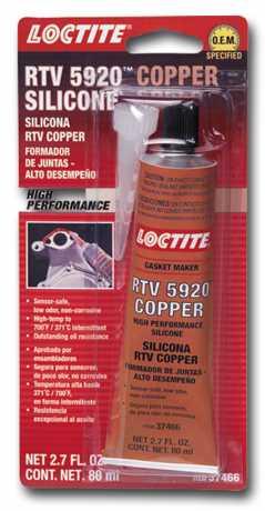 Loctite Loctite RTV 5920 Copper Silicone Gasket Maker (80 ml)  - 69-0042