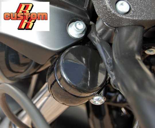 Flywheel Design Flywheel Design Fork stem cover kit aluminum, black gloss  - 69-0860
