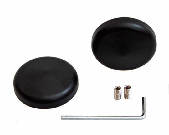 Flywheel Design Flywheel Design Swingarm caps aluminum, black matte  - 69-0873