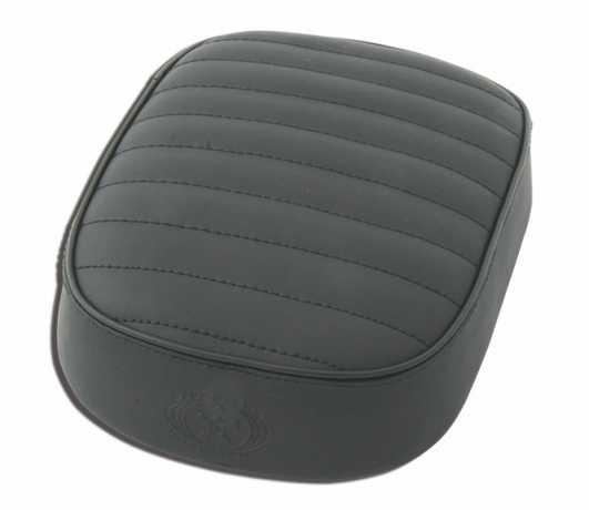 Five Stars 5-Stars Suction Cup Pillion Pad Black Leather, horizontal stitch  - 69-0986