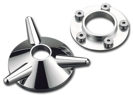 Kustom Tech Kustom Tech Spinner-Radkappe Standard, poliert  - 69-6045