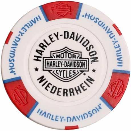 H-D Motorclothes Harley-Davidson Poker Chip weiß/rot/blau - 69712