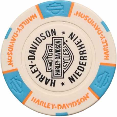 H-D Motorclothes Harley-Davidson Poker Chip weiß/blau/orange - 69720