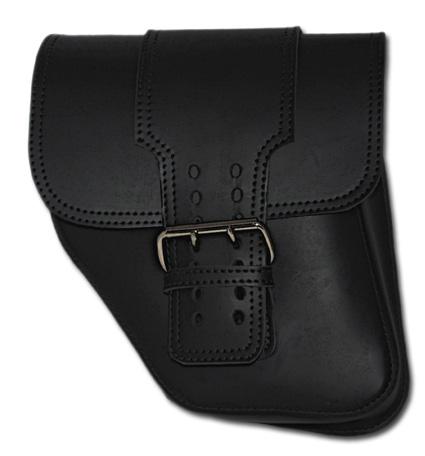 LaRosa LaRosa Black Leather Solo Saddle Bag with Wide Strap  - 69-7390