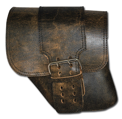 LaRosa LaRosa Distressed/Rustic Leather Solo Saddle Bag with Wide Strap  - 69-7391