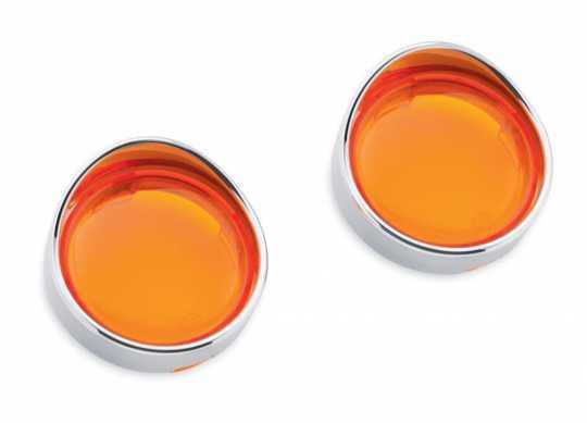 Harley-Davidson Turn Signal Trim Rings Bullet Front or Rear, Amber Lenses  - 69756-05