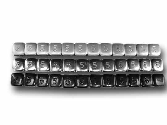 K&L Supply K&L Rad Auswuchtgewichte 7g silber (360 Stück)  - 69-9953