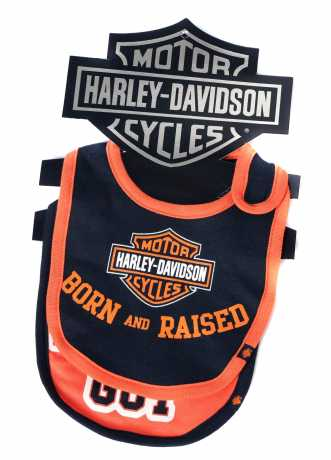 H-D Motorclothes Harley-Davidson Baby Boy's Bibs Harley Guy/Born and Raised  - 7059507