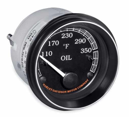 Harley-Davidson Oil Temperature Fairing Gauge °F, black  - 70900283