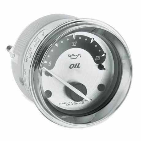 Oil Pressure Gauge with Spun Aluminum Face