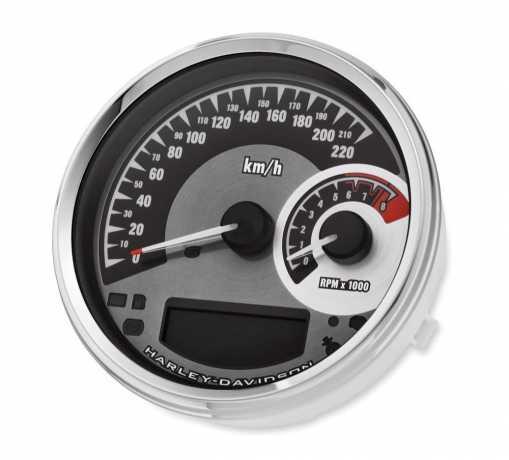 """Harley-Davidson Analog Speedometer/Tachometer - 5"""" km/h  - 74775-11B"""