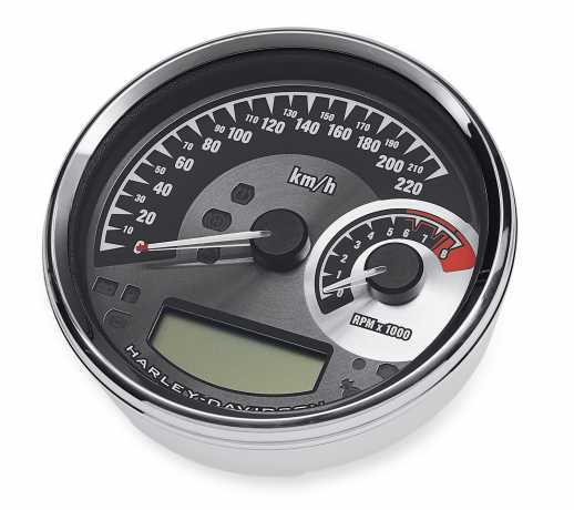 """Harley-Davidson Analog Speedometer/Tachometer - 5"""" km/h  - 74775-11C"""